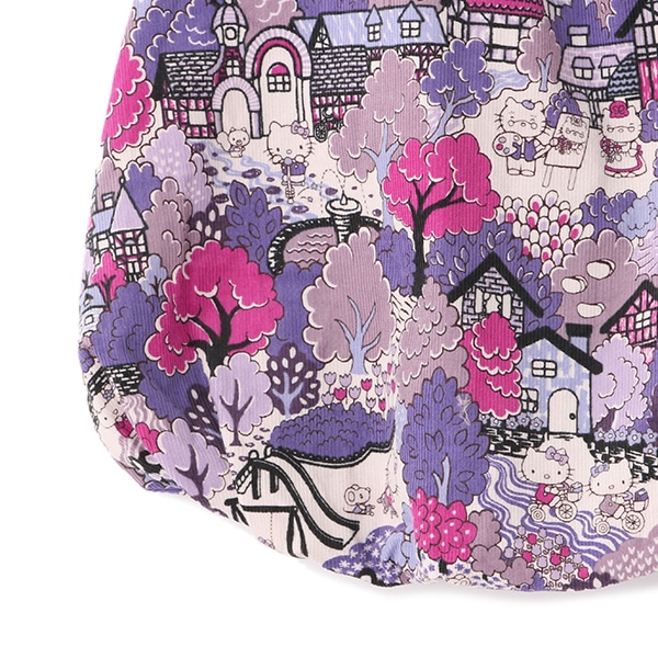 【Hello Kitty x Liberty Fabrics】 切替バルーンワンピース