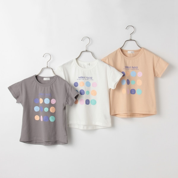 MOBILE FACESプリントTシャツ