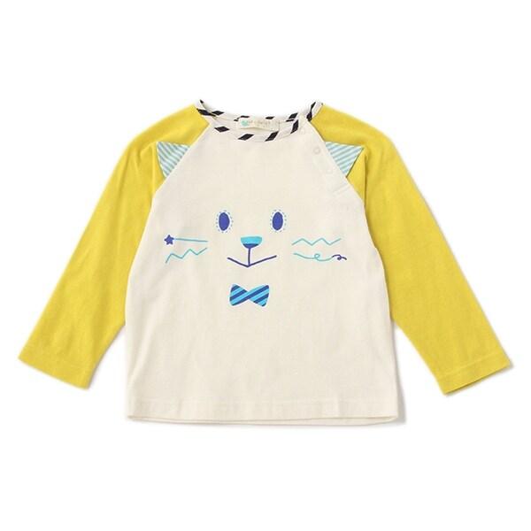ラグランねこ長袖Tシャツ(50%OFF)