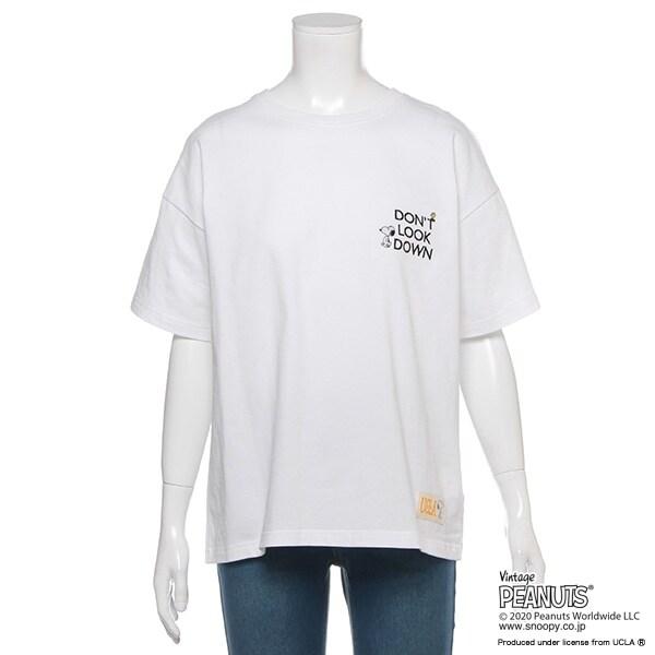 【PEANUTS×UCLAコラボ】 ロゴ刺しゅうTシャツ