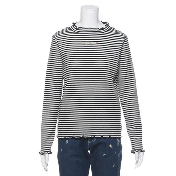 メロウネックボーダーTシャツ(76%OFF)