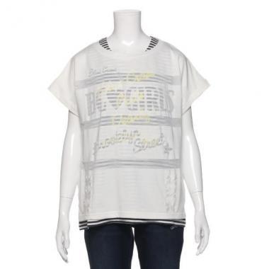 【50%OFF】オパールグラフィックタンクトップつき半袖Tシャツ