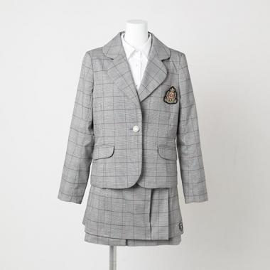 【50%OFF】ワッペン付きグレンチェックジャケット