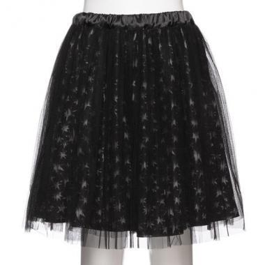 【50%OFF】【ニコ☆プチ掲載】星柄×チュールプリーツスカート