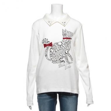 【50%OFF】ロゴネコ衿つきTシャツ