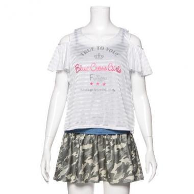 【50%OFF】肩開きTシャツ&タンキニ4点セット