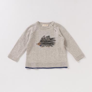 オーガニックコットン ハリネズミセーター