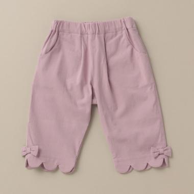 裾スカラップ7分丈パンツ