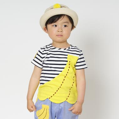 おおきなバナナモチーフTシャツ