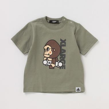吸水速乾 接触冷感 ファニーゴリラプリントTシャツ