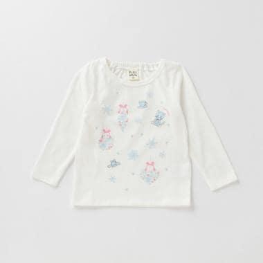 雪の結晶プリントTシャツ