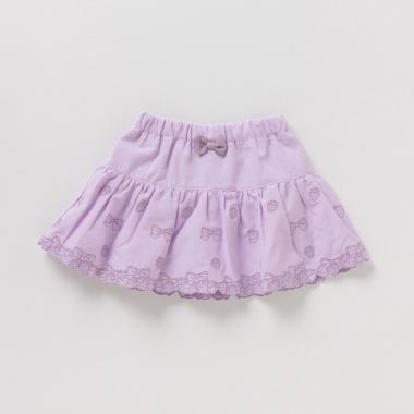リボン&イチゴ刺しゅうスカート