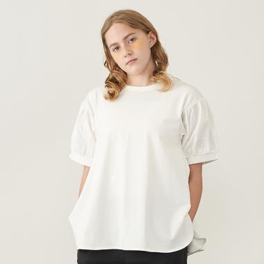 【AMI】異素材パフスリーブTシャツ