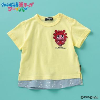【かいじゅうステップ ワンダバダ】 キャラクターワッペンレイヤード風Tシャツ