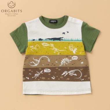 【国立科学博物館】 オーガビッツ 恐竜地層プリントTシャツ