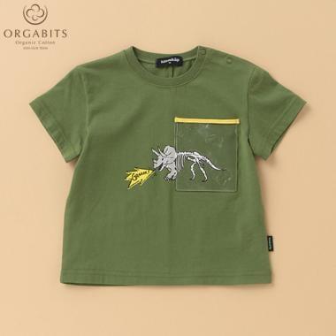 【国立科学博物館】 オーガビッツ 胸ポケットつきトリケラトプスTシャツ