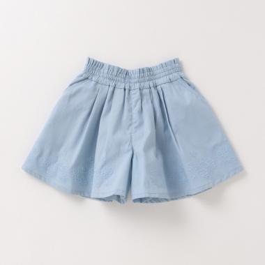 花刺しゅうキュロットスカート