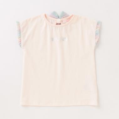 ロゴ後リボンフレンチスリーブTシャツ