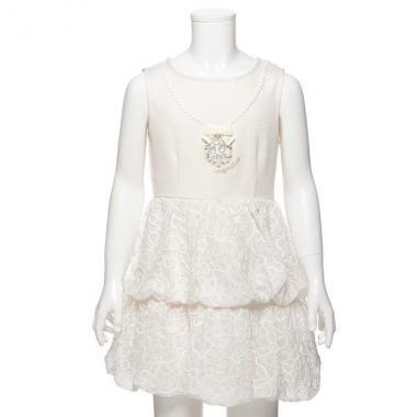 【50%OFF】フラワー柄切り替えバルーン裾ワンピース