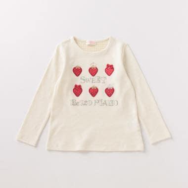 イチゴモチーフTシャツ