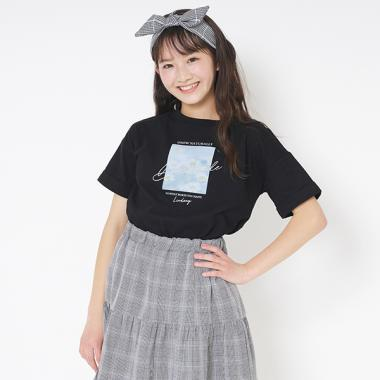 マーガレット転写プリント半袖Tシャツ