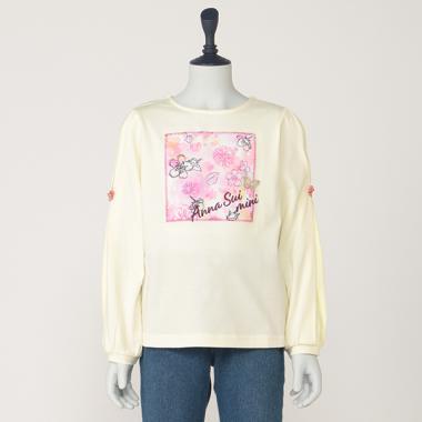 抗菌防臭 タイダイフラワープリントTシャツ