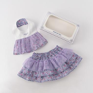 オリジナルギフトボックスつき小花柄スタイ×スカートつきブルマセット