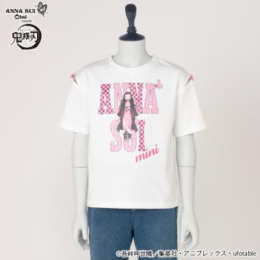 【鬼滅の刃】 プリント肩リボンTシャツ