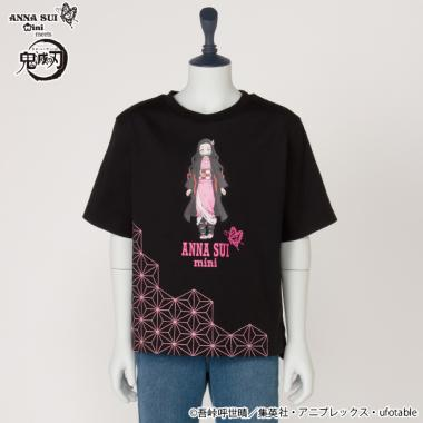 【鬼滅の刃】 竈門禰豆子プリントTシャツ