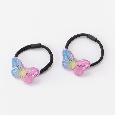蝶々グラデーションヘアポニー2個セット