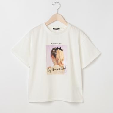 ガールフォトプリントTシャツ