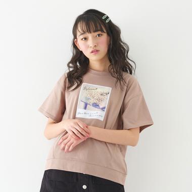 チェキ風フォトプリントTシャツ