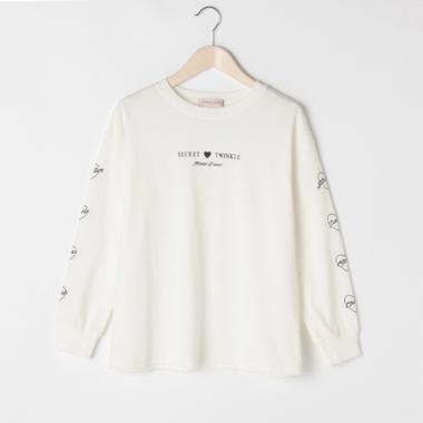 袖ハートロゴTシャツ