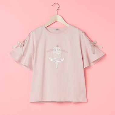 【接触冷感】レースアップアイス半袖Tシャツ