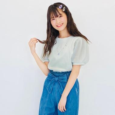シェルネックレス半袖Tシャツ