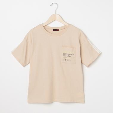 袖テープビッグロゴTシャツ