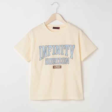 カレッジロゴプリント半袖Tシャツ