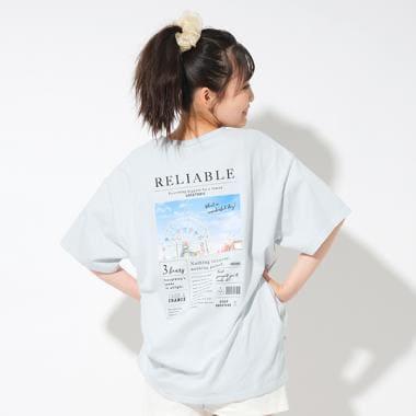 バッグフォトプリントTシャツ