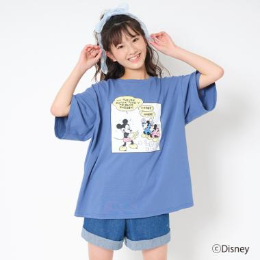 【DISNEY】コミックプリント半袖Tシャツ