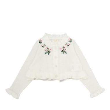 Infant Flora embroidery cardigan