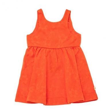 嬰兒菊花提花連衣裙