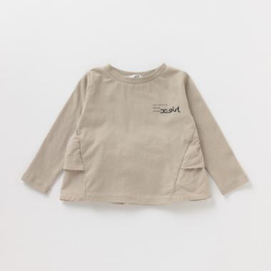 バックフリルロゴTシャツ