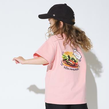 バックプリントジャンクフード半袖Tシャツ