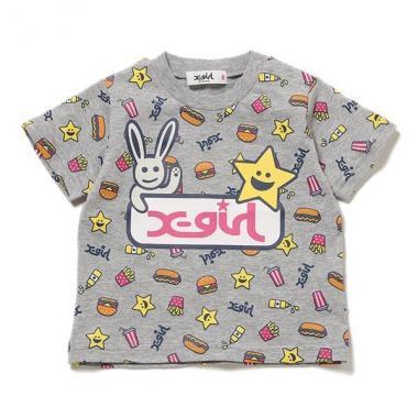 【50%OFF】キラッキージャンクフード総柄Tシャツ