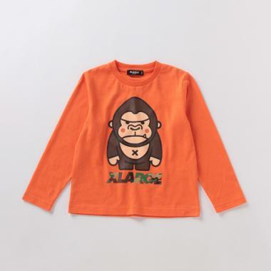 ファニーゴリラプリントTシャツ