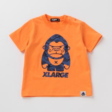 迷彩柄ファニーゴリラ半袖Tシャツ