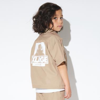 OGゴリラドットボタン半袖シャツ