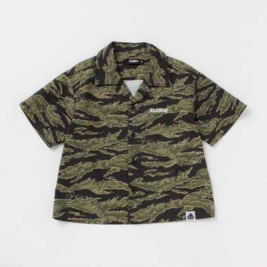 迷彩サッカー半袖開衿シャツ
