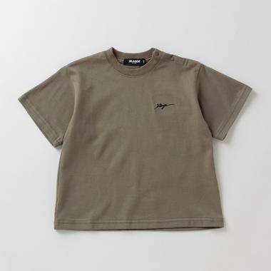 ロゴ刺しゅう半袖Tシャツ