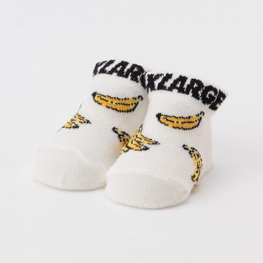 バナナ柄ロゴカップソックス